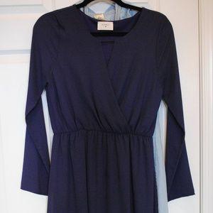 Purple Everly Faux Wrap Dress